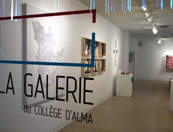 Vitrine de La galerie du Collège d'Alma