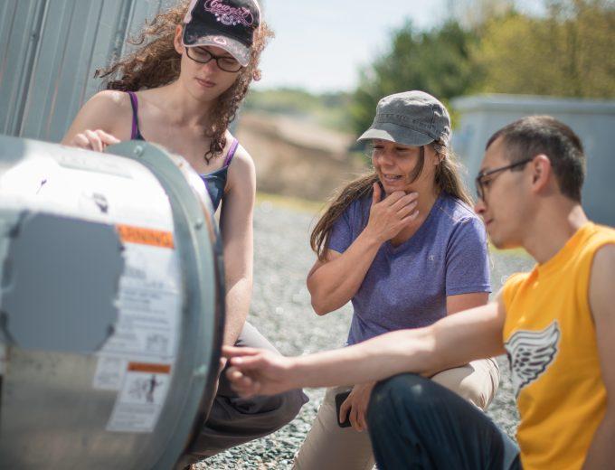 Des étudiants de Gestion et technologies d'entreprise agricole en formation