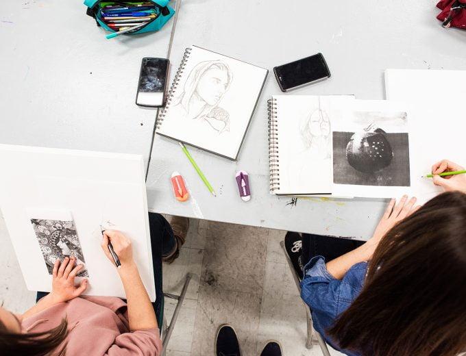 Étudiante en Arts visuels et numériques
