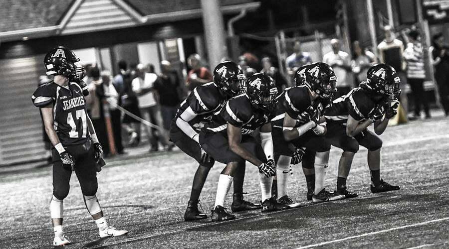 Joueurs de football en action
