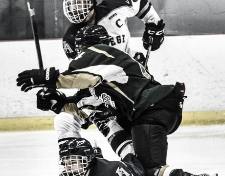 Joueurs de hockey en action