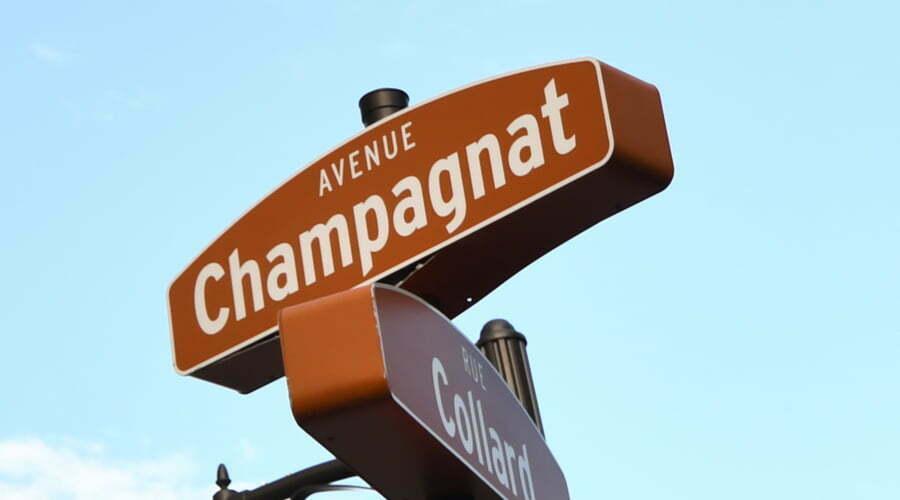Champagnat - rue sur laquelle on retrouve le Collège d'Alma