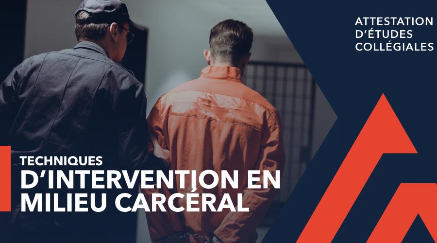 AEC - Techniques d'intervention en milieu carcéral, intervenant et détenu vus de dos